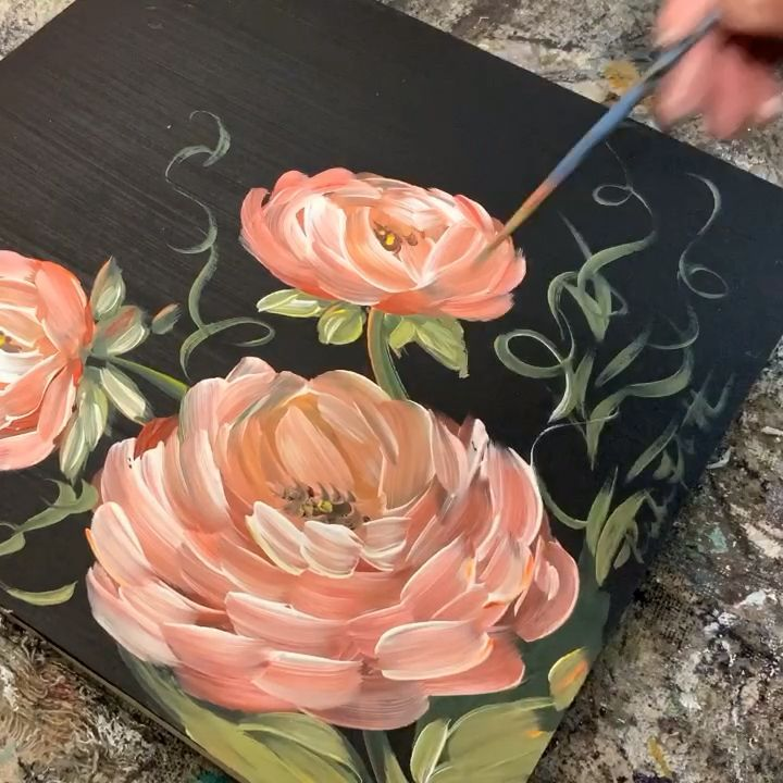Painting flowers – keep them forever