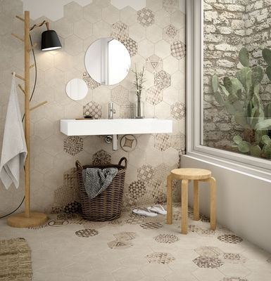 Hexatile Cement Bathroom Interior Bathroom Wall Tile Interior