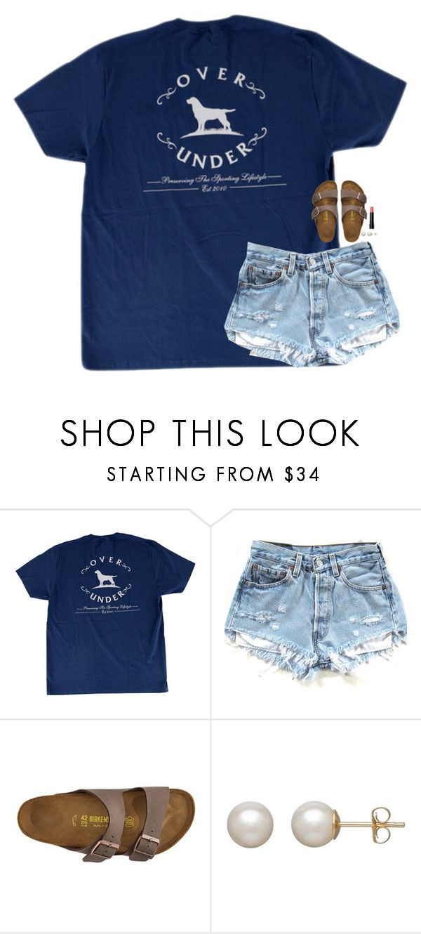 """""""happy Memorial Day! going to ship island, won't be on today"""" by classynsouthern ❤ liked on Polyvore featuring Birkenstock, Honora and Bobbi Brown Cosmetics"""
