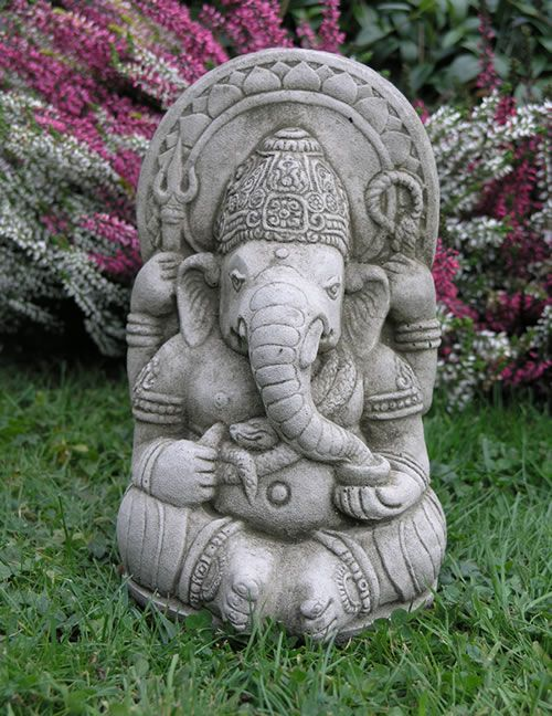 Superior Part Of Our Extensive Range, The Small Ganesh Garden Ornament  EF4 Is  Available For FREE Delivery On Garden4Less Orders Over £25!