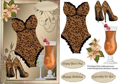 OOOO La La Sexy Leopard print Bask on Craftsuprint - Add To Basket!