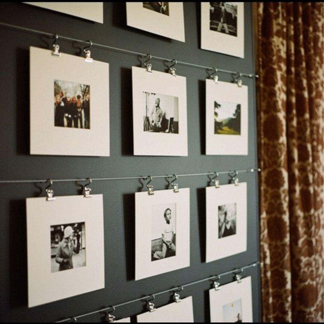 Une Galerie Photo Originale Pour La Décoration Du0027un Couloir ! Les Photos  Sans Cadre