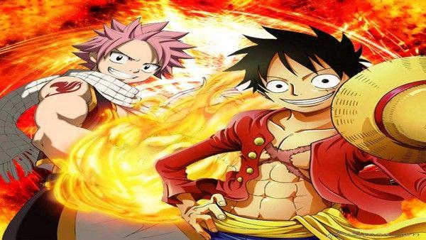 صورة ناتسو و لوفي One Piece Crossover One Piece Fairy Tail Fairy Tail