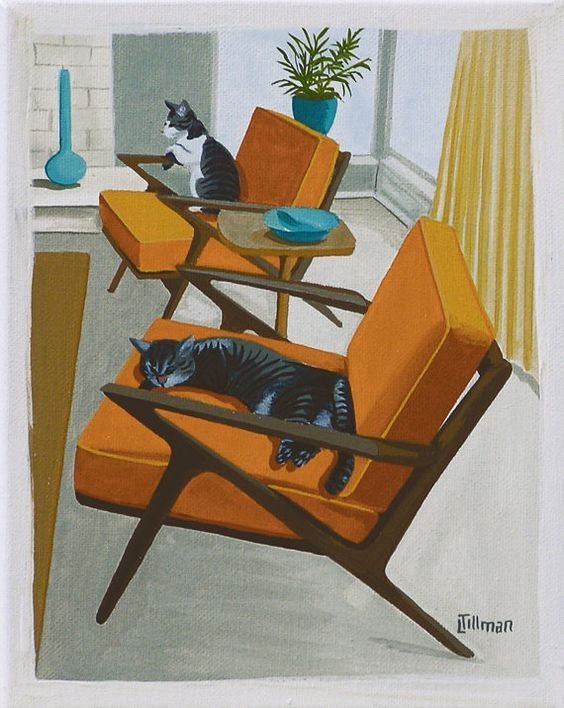 Mid Century Modern Eames Retro Limited Edition Print from ...