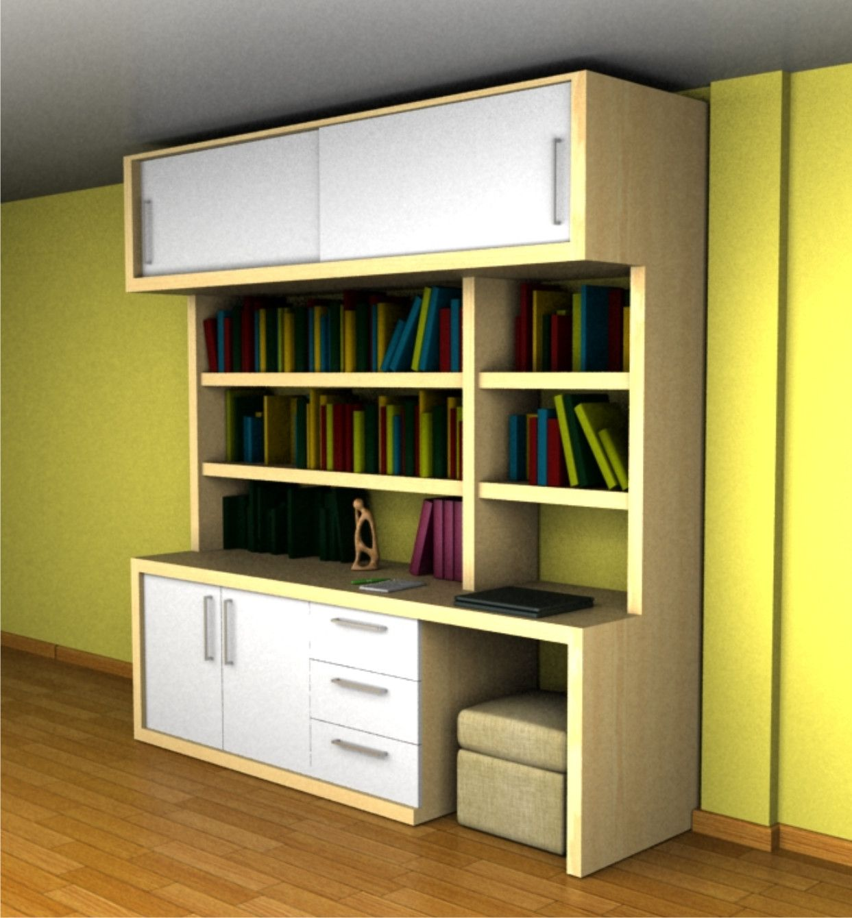 Biblioteca madera biblioteca pinterest muebles para for Bibliotecas muebles