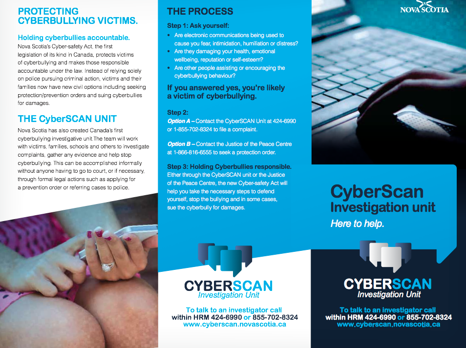 Nova Scotia CyberScan Brochure Page 1 A Teacher's Cyberbullying