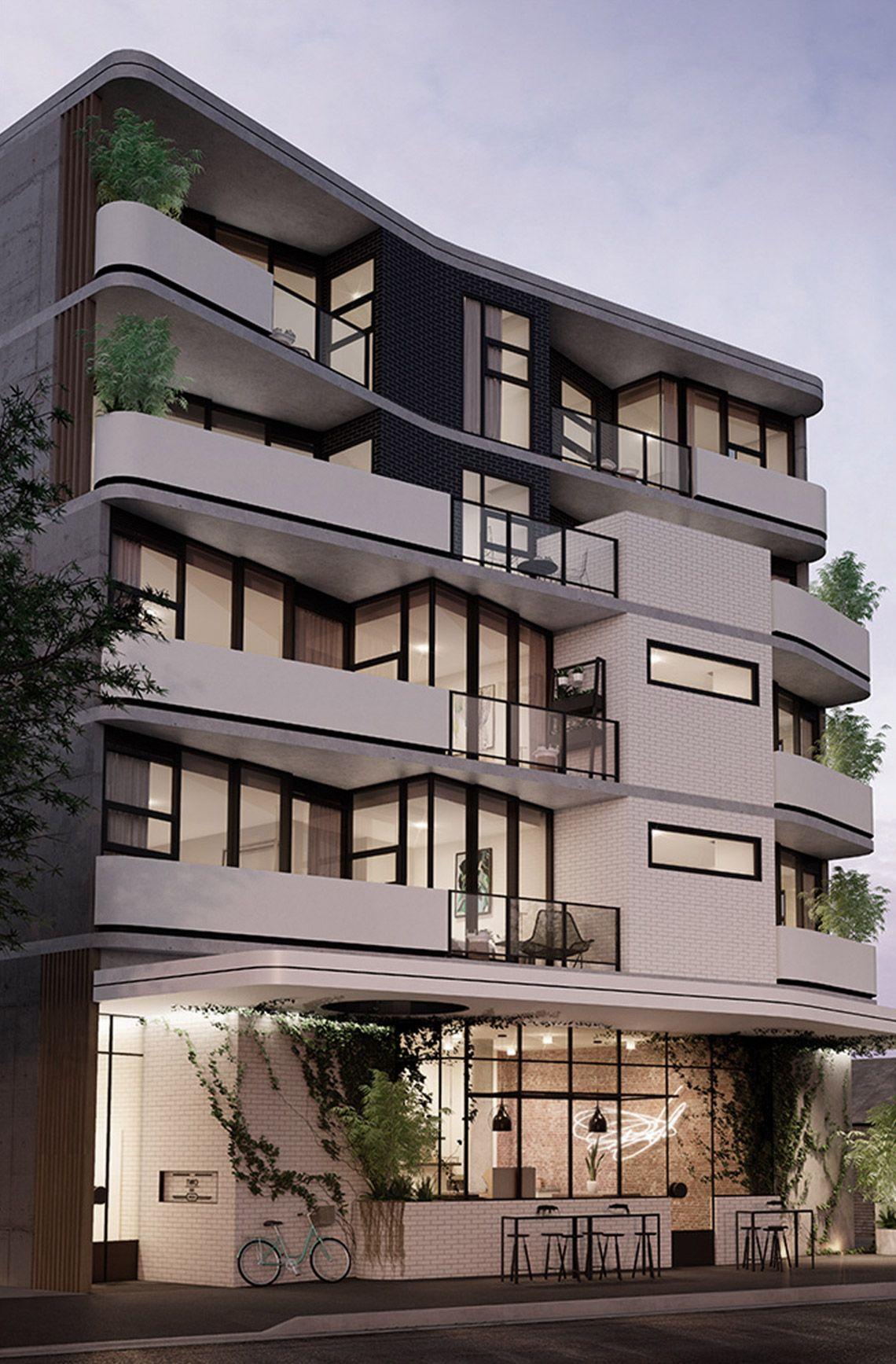 Kestie lane studio morton avenue morton ave apts - Fachadas edificios modernos ...