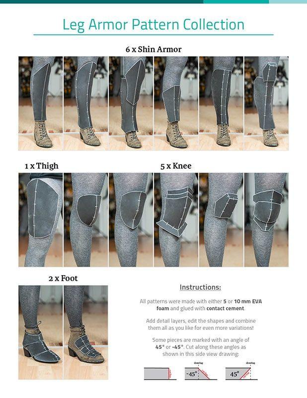Leg Armor Pattern Collection - DOWNLOAD PDF - KamuiCosplay