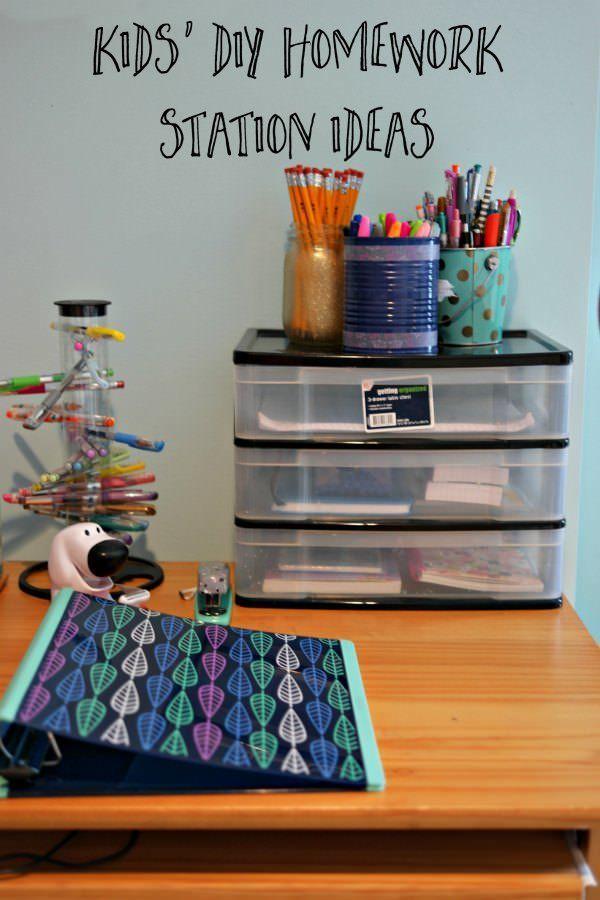 Kidsu0027 DIY Homework Station Ideas important