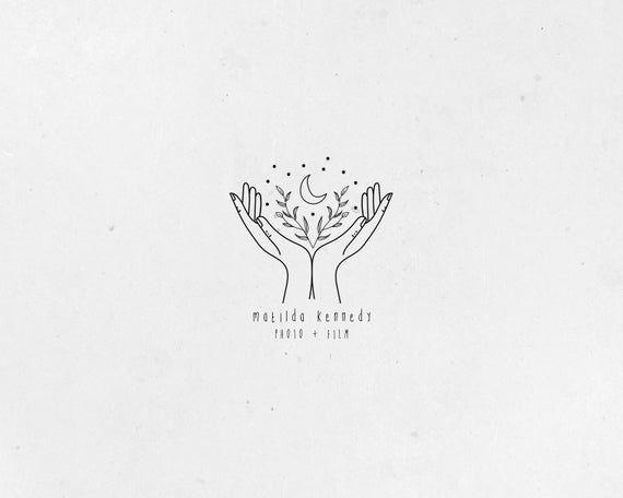Premade Logo, Logo à la main, à la main Logo dessiné, Logo mystique, Boho Logo, Logo Gypsy, apothicaire Logo, Logo magique, photographie Logo, Blogger