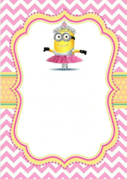 printable girl minion party invitation you are welcome festa