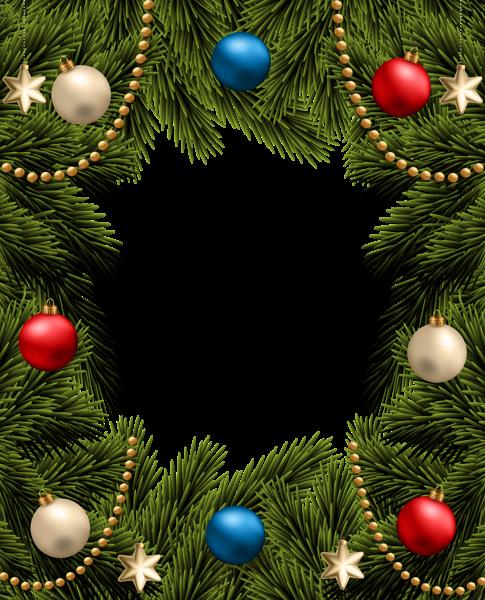 Christmas Png Transparent Pine Frame Border Christmas Frames Christmas Christmas Border