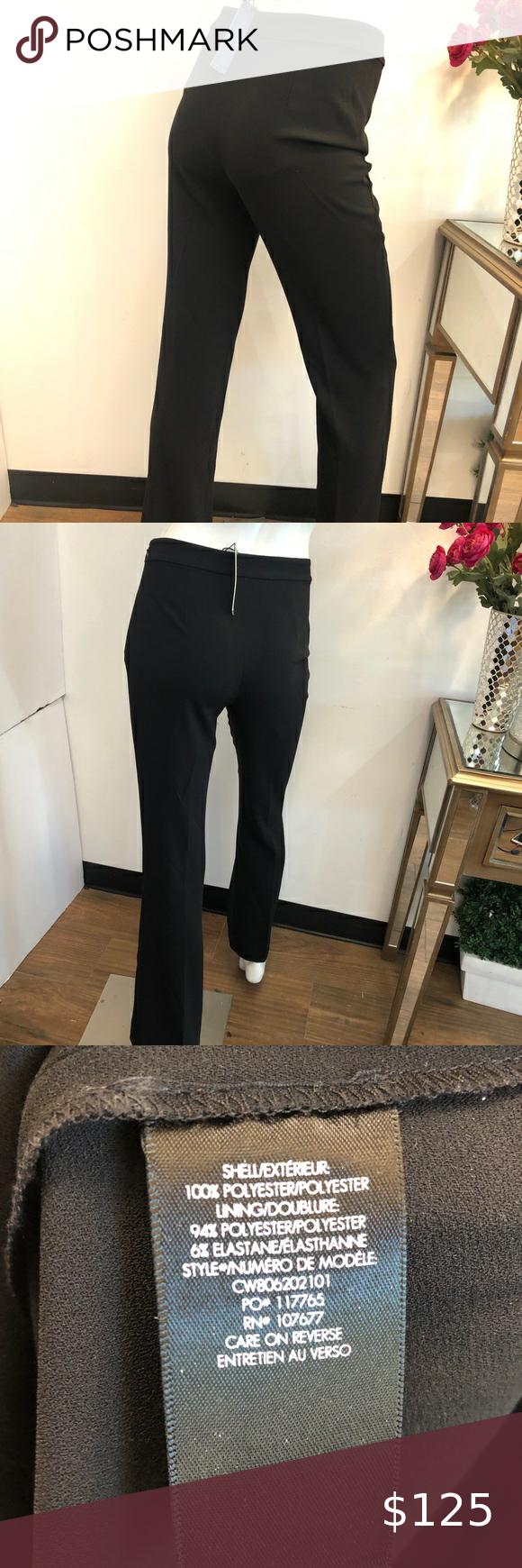 New Alice Olivia Classic Jalisa Fitted Pant 2 Black Dress Slacks Classic Black Dress Dress Slacks [ 1740 x 580 Pixel ]