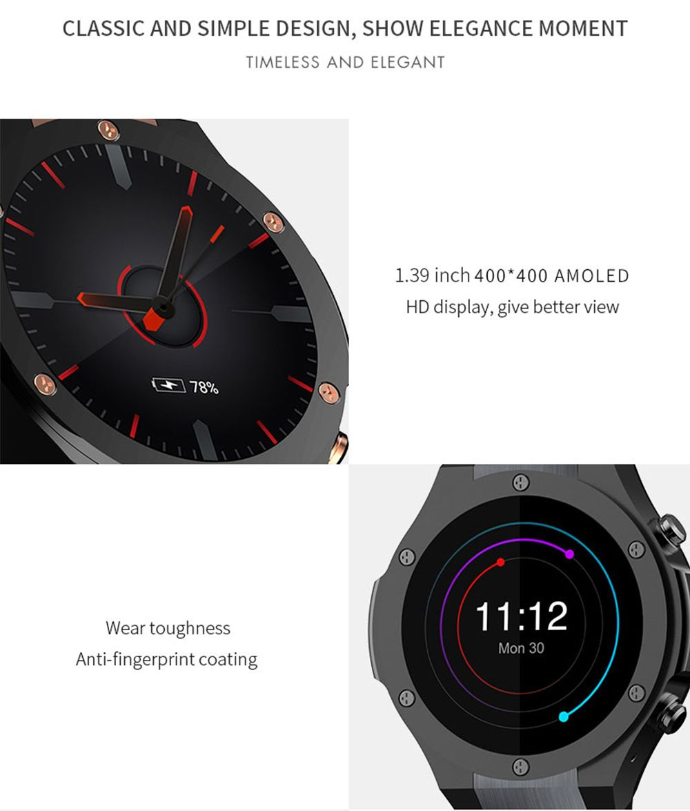 1d73fabc7 Microwear H2 Bluetooth Smart Watch Phone Android Wear GPS 16 GB Built-in  Memory Wireless