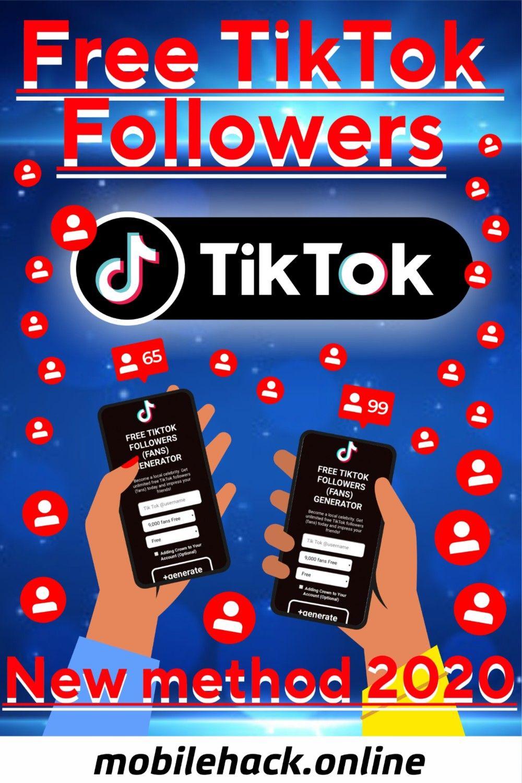 Free Tik Tok Followers New Method 2020 Free Followers How To Get Followers Tik Tok