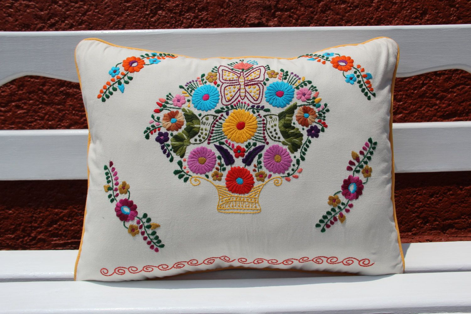 Natural and Multi colored Puebla Collection Sham by CasaOtomi