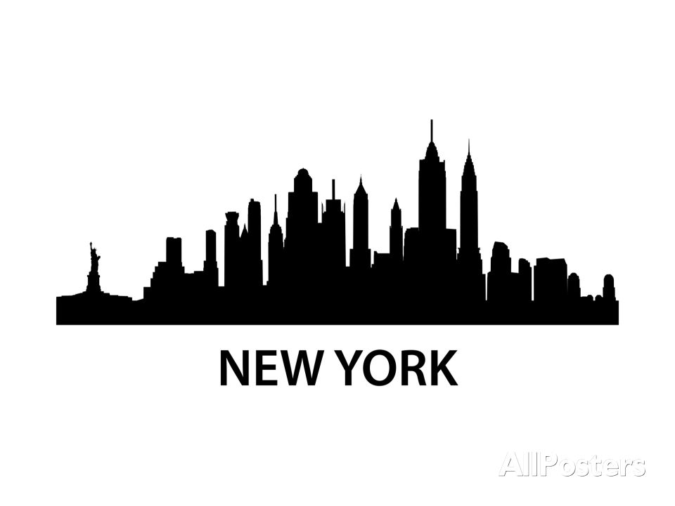 Allposters Com The World S Largest Poster And Print Store New York Skyline Silhouette New York Poster Chicago Skyline Tattoo