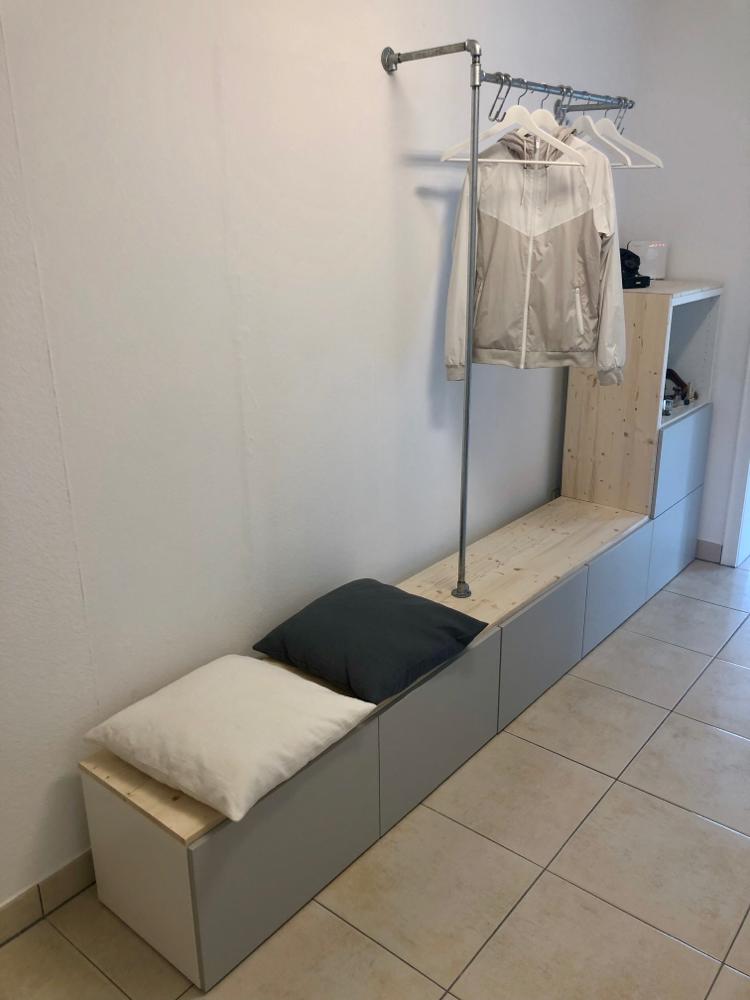 Garderobe Ikea Besta Diy Garderobe Ikea Ikea Diy Diy Kleiderschrank