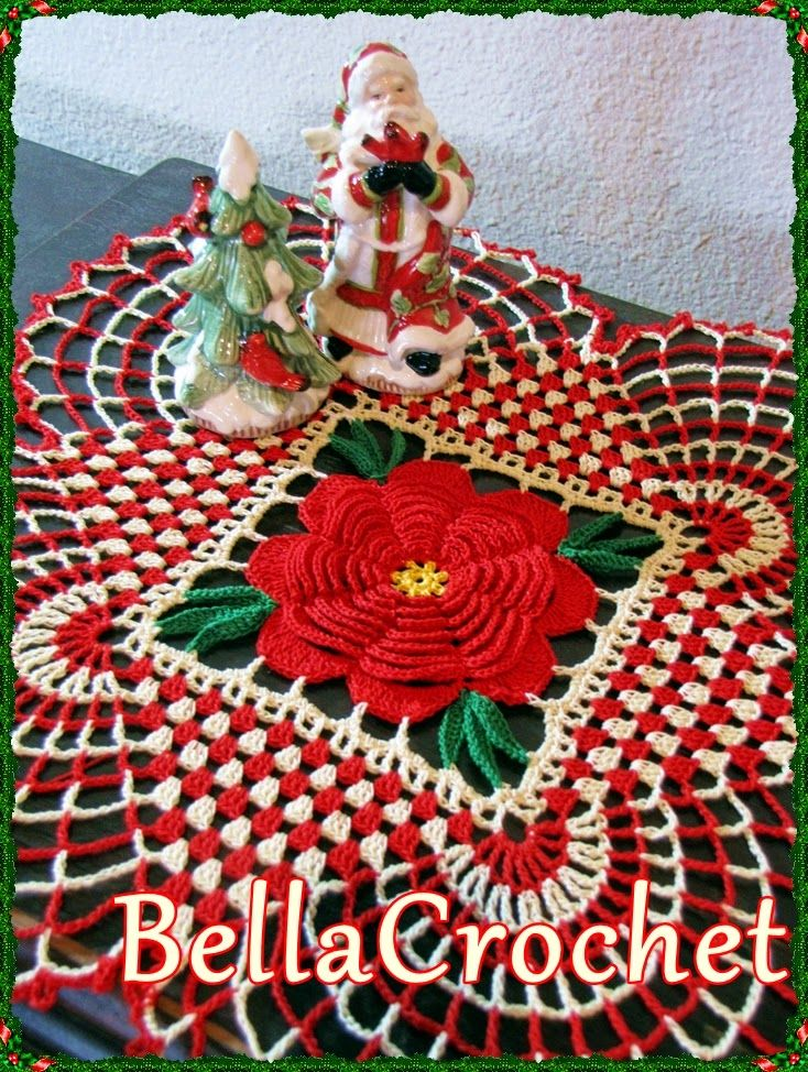 Bellacrochet Country Christmas Doily A Free Crochet Pattern For