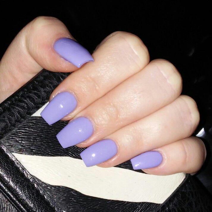My Nails Liz Choi Vanity Beauty Bar Bakersfield CA Coffin Medium Length Lightpurple Purple OPI Polish