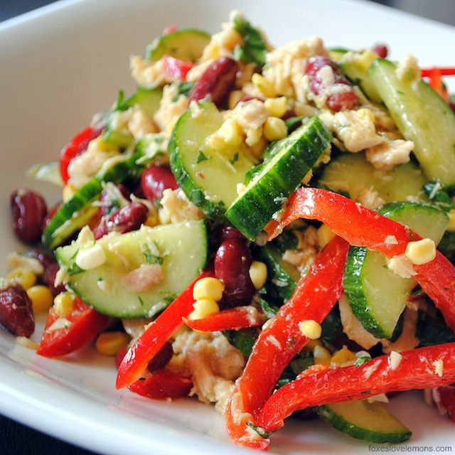 Santa Fe Tuna Salad. Eliminate the corn and this is a perfect slow carb recipe.