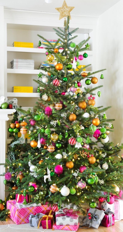 Christmas Spirit The English Room In 2020 Orange Christmas Tree Pink Christmas Tree Christmas Colors