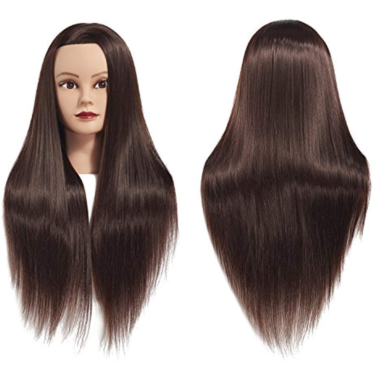 26 28 Mannequin Head Hair Styling Training Head Manikin Cosmetology Doll Head Synthetic Fiber Hair Hairdressing Training Head Hair Hair Mannequin Hair Styles