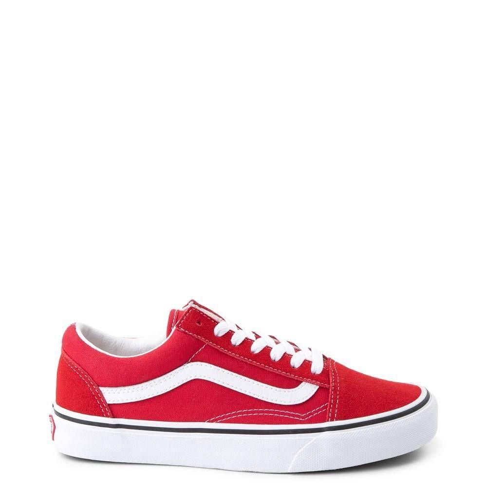 Vans Old Skool Skate Shoe Racing Red   Red vans shoes