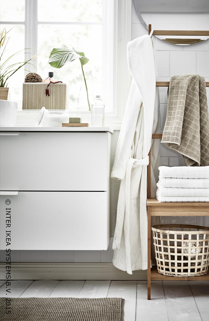 RÅGRUND Stoel met handdoekenrek Bamboe | Pinterest | Ikea bathroom ...