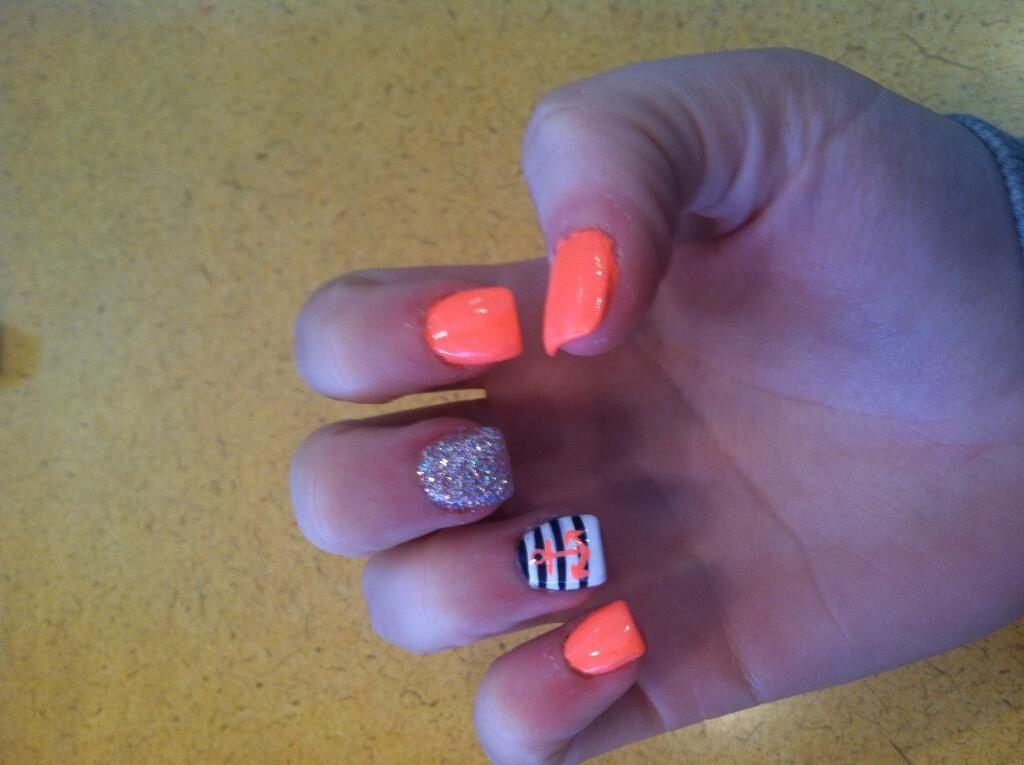 Super cute neon orange summer nails | Nail ideas | Pinterest | Neon ...