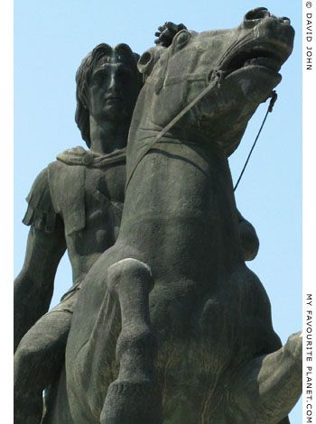 Statue of Alexander the Great and Bucephalos in Thessaloniki at My Favourite Planet