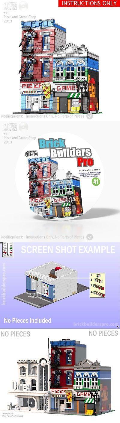 Cd Lego Custom Pizza And Games Shop Pdf Book Instructions 41