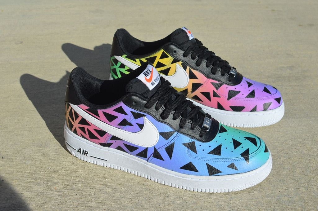 Custom Hand painted Nike AF1 Low Color Punch in 2020