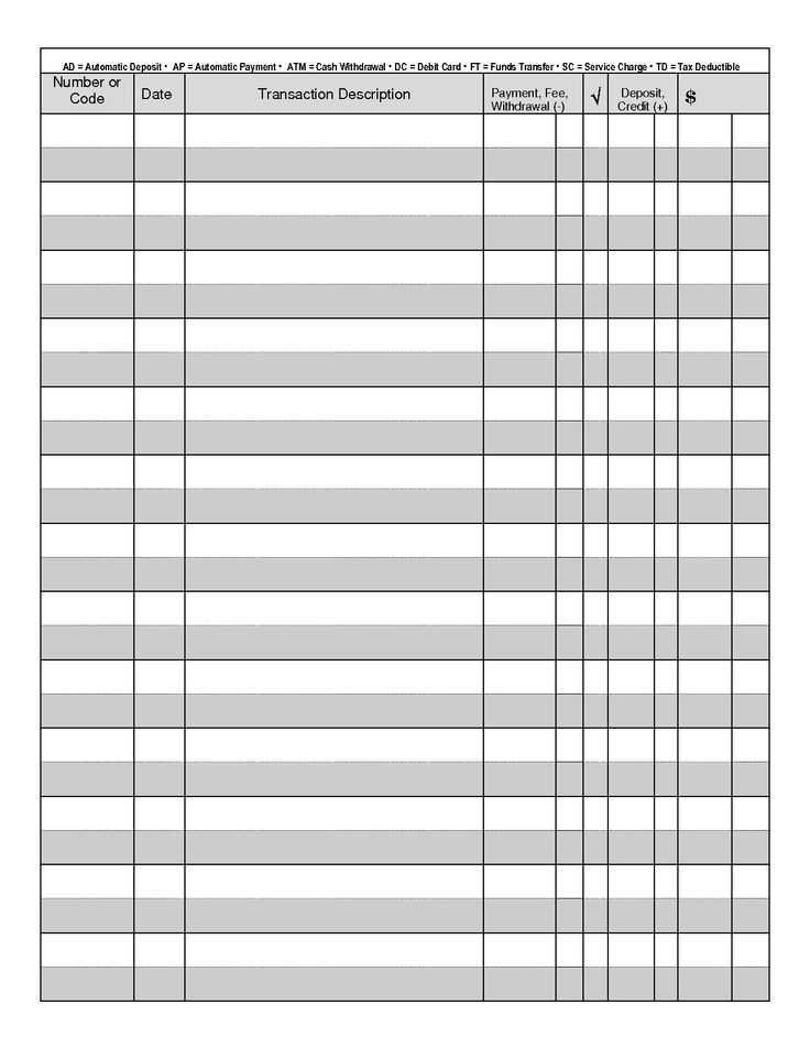 check register print out - Google Search Notes to Self Printable