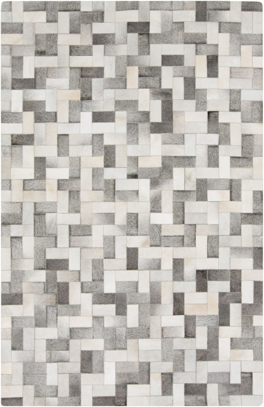 Surya blowout sale up to 70 off out1012 23 outback hides and leather area rug gray neutral - Alfombras contemporaneas ...