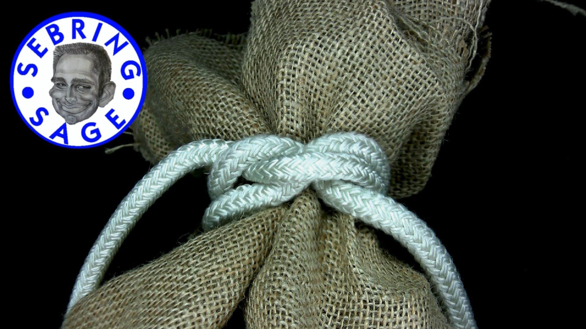 Knot tying the bag knot이미지 포함 매듭