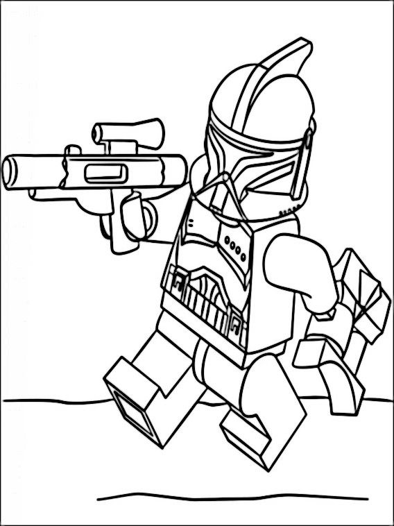 Lego Star Wars Coloring Pages 7 Kolorowanki Lego Coloring Pages