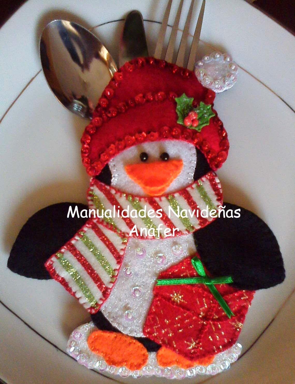 Modelos de adornos navidenos en fieltro