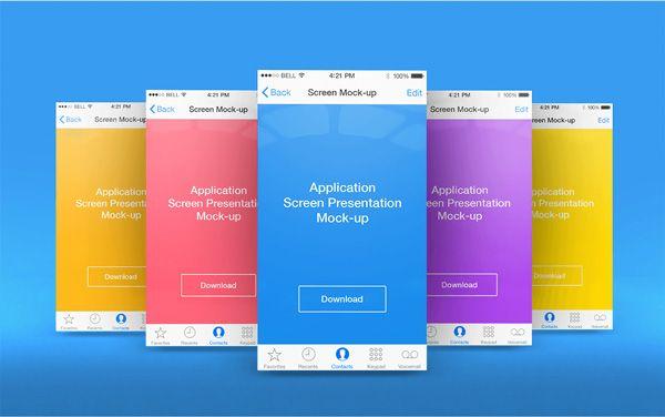 Free Download App Screen Presentation Mockups Designbeep App Design Mockup Templates Free Mockup Templates