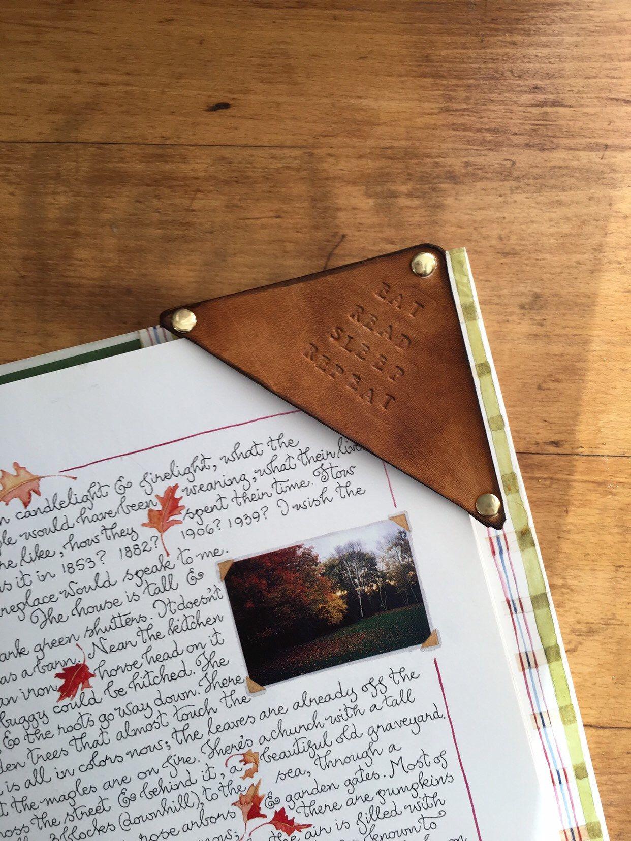 leather bookmark handmade bookmark