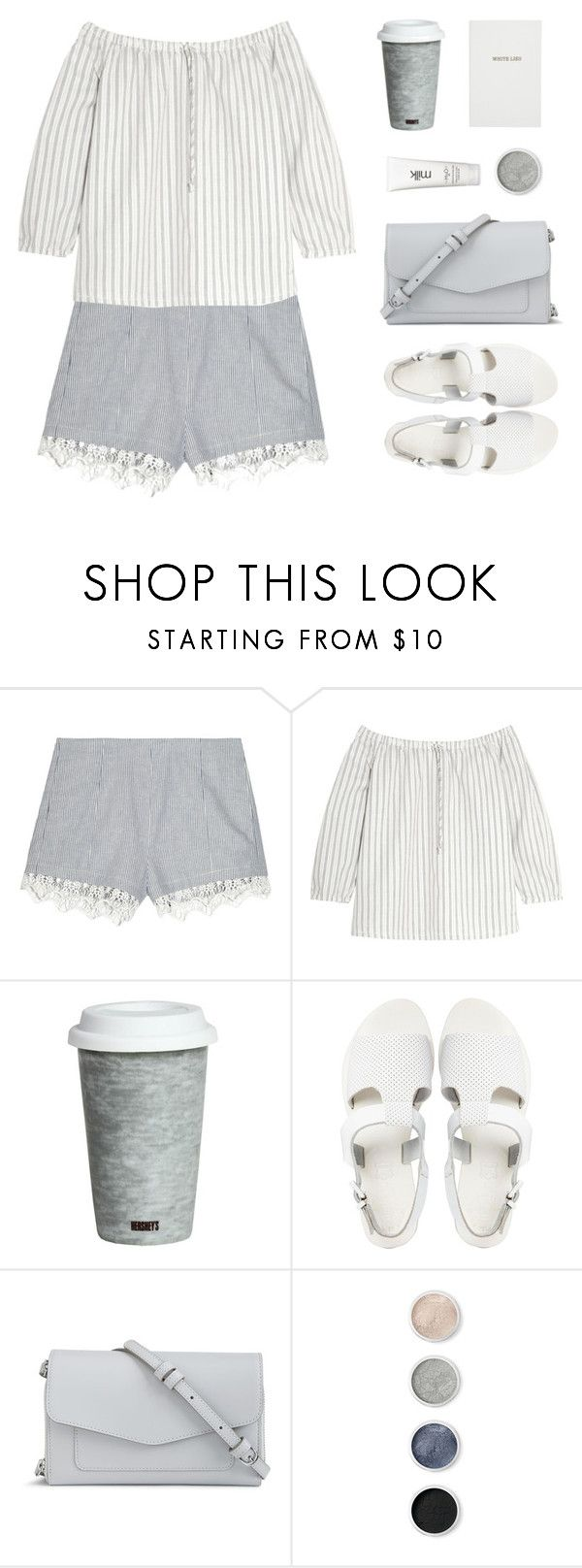 """""""Perfect Pinstripes Day"""" by sweetpastelady ❤ liked on Polyvore featuring rag & bone, Madewell, Fitz & Floyd, Sol Sana, Vera Bradley, Terre Mère, H2O+ and Sloane Stationery"""