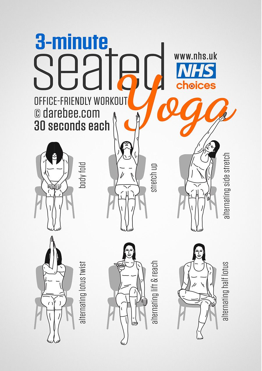 3 minutes office friendly seated yoga workout fitness how to
