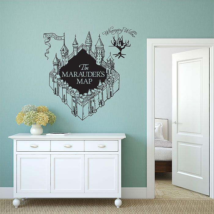 The Marauderu0027s Map Harry Potter V3 Vinyl Wall Art Decal (WD 0788)