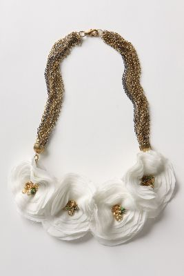 Anthropologie Flower Necklace   Available now at Ooh La Loft Clothing Boutique &707)769-7787   $28 #loftclothes