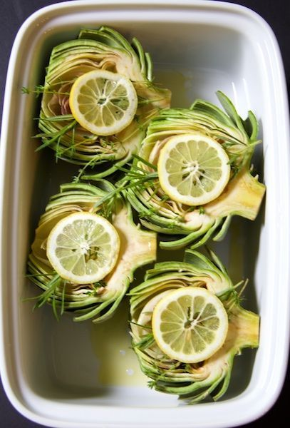 Find Oven Roasted Artichokes with Roasted Garlic Butter and other creative recipes at A Cookbook Obsession