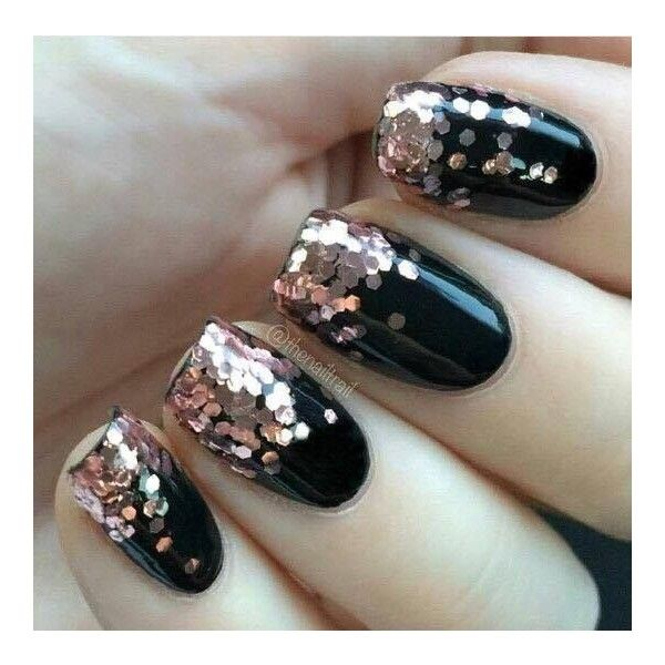 Rose gold glitter nails liked on polyvore featuring beauty there are 21 different ways to design your gradient nails you can try to do it yourself or share ideas to your manicurist solutioingenieria Choice Image