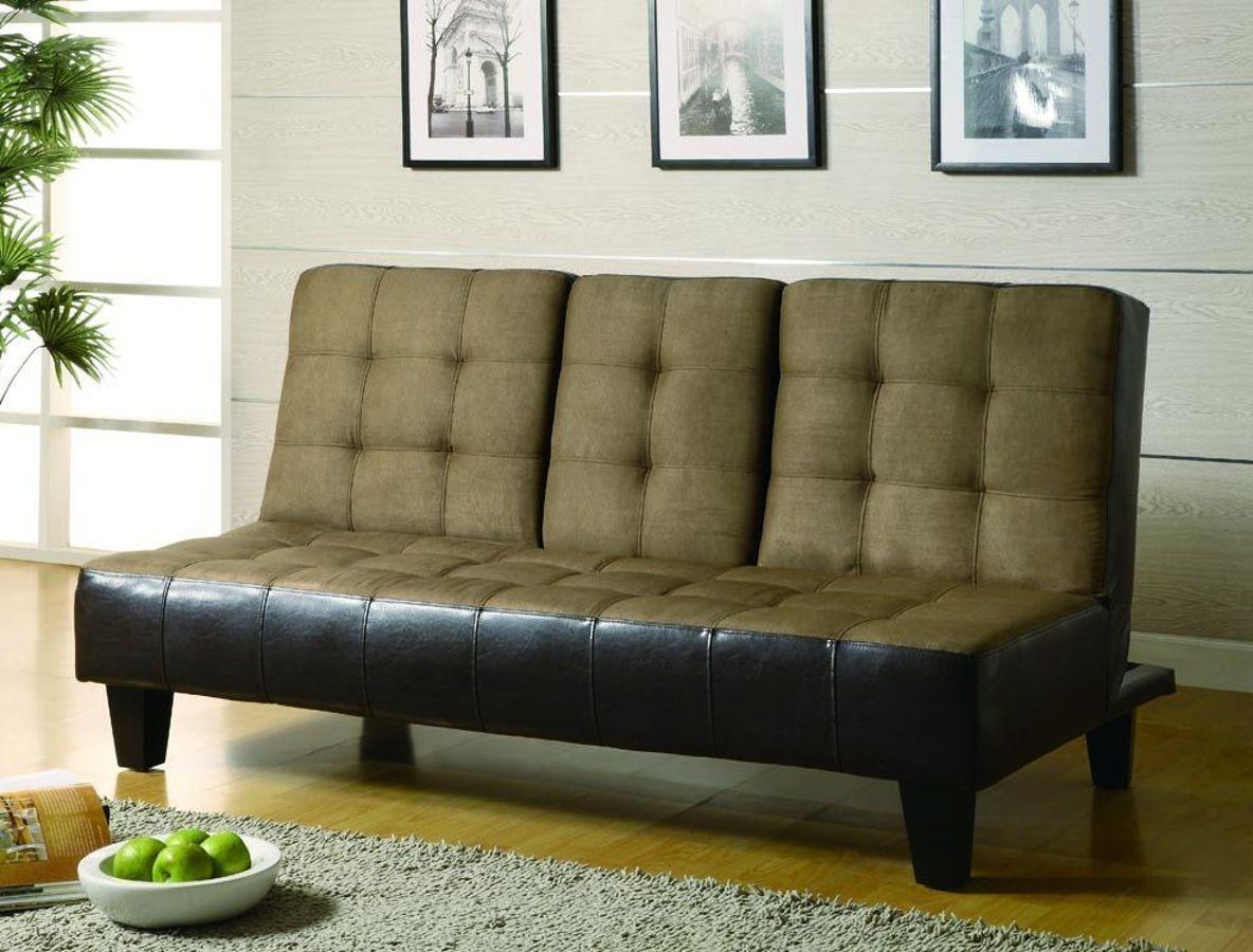 Brown Microfiber Sofa Bed Large Over Floor Lamp Tan Dark Futons Pinterest