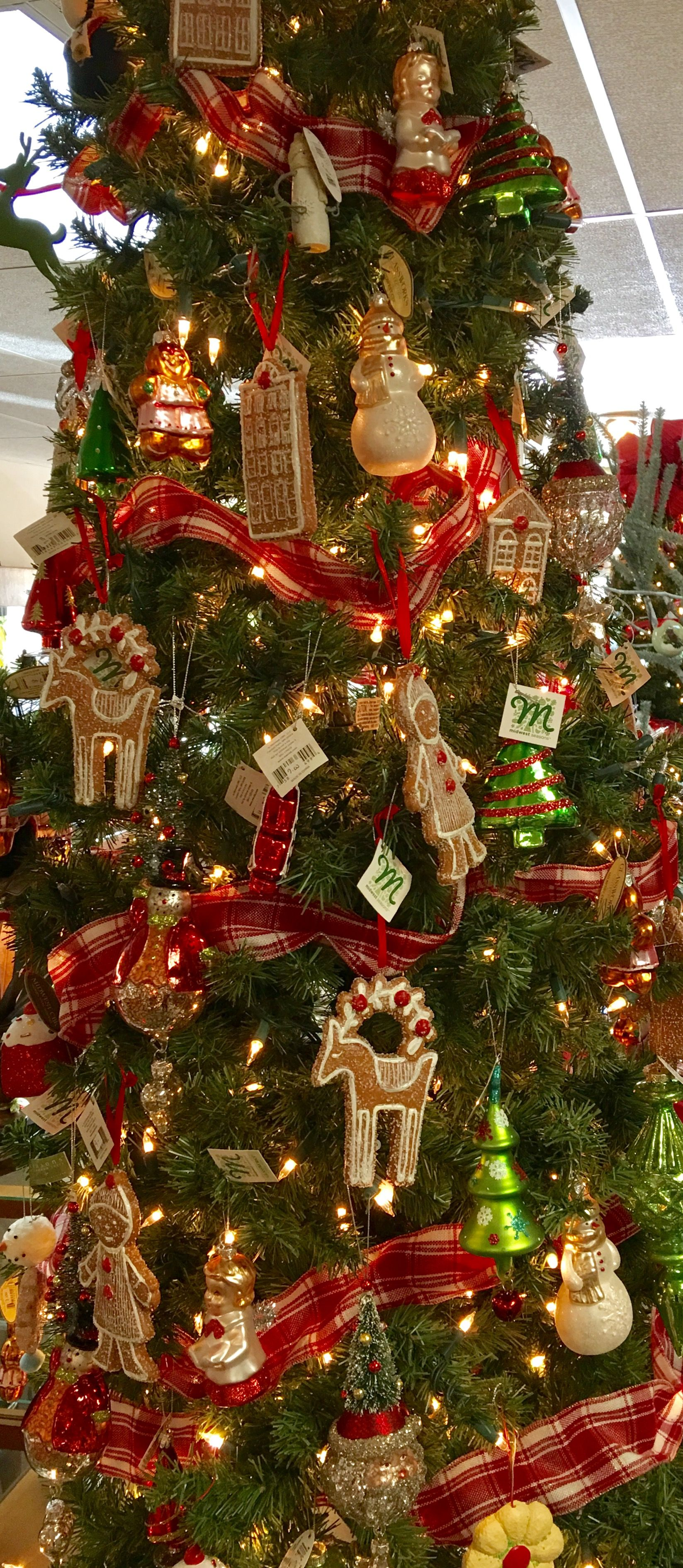 Our vintage inspired tree is filled with wonderful