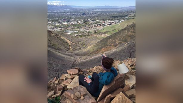 Exceptional View Of The Salt Lake Valley, The U201cLiving Roomu201d Hike 3 Miles.