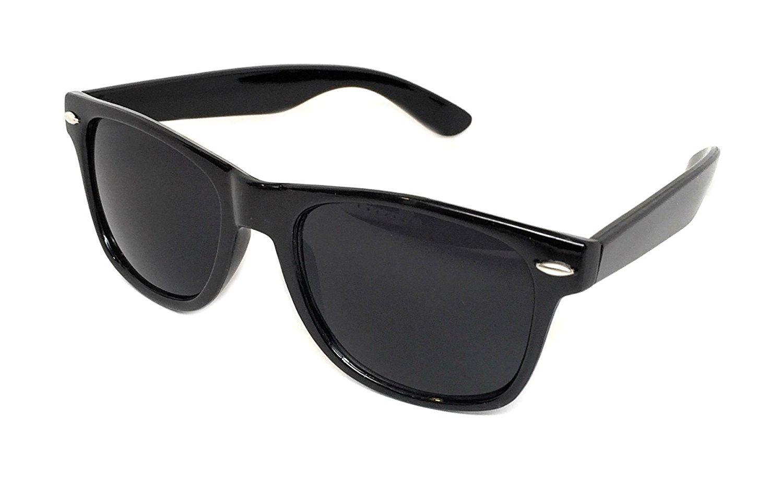 eb185ae199 Sunglasses Classic 80s Style Assorted Color Frames and Lenses - Black   Super  Dark - CJ185X47397 - Men s Sunglasses